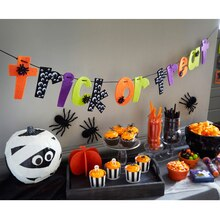 "Kids' ""Trick or Treat"" Felt Party Banner, medium"